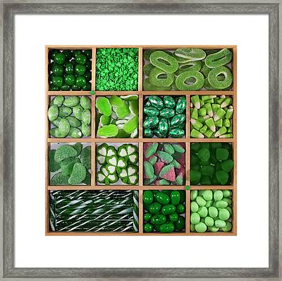Divded Wooden Tray Framed Print by Lisa Stokes