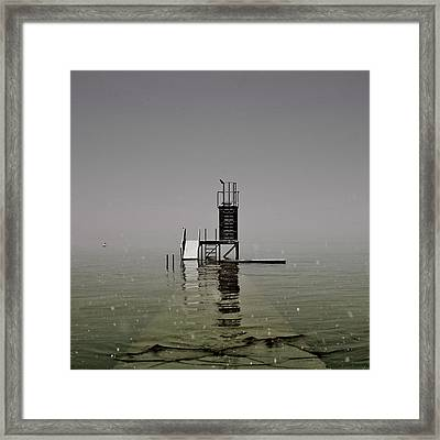 Diving Platform Framed Print by Joana Kruse