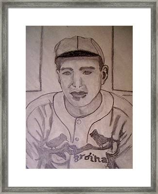 Dizzy Dean Cardinals Pitcher Framed Print by De Beall