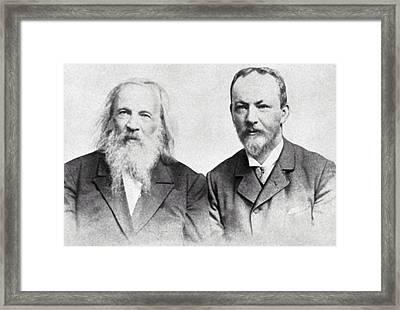 Dmitri Mendeleev And Bohuslav Brauner Framed Print by Ria Novosti