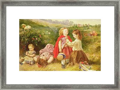 Do You Like Butter Framed Print by Myles Birket Foster