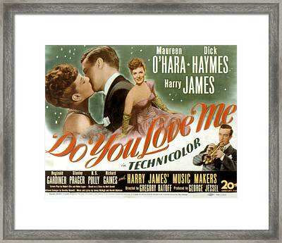 Do You Love Me, Maureen Ohara, Dick Framed Print by Everett