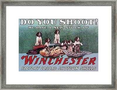 Do You Shoot Framed Print by Unknown