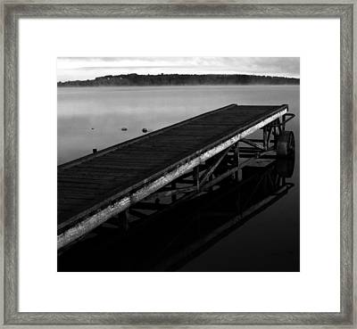 Dock Framed Print by JC Photography and Art