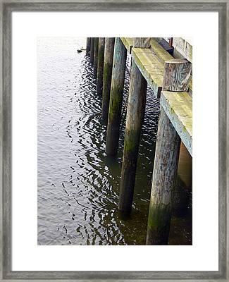 Dock Of The Bay  Framed Print by Pamela Patch