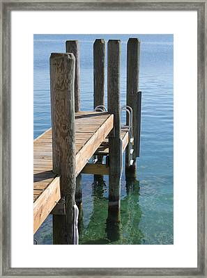Docked Framed Print by Sheryl Burns