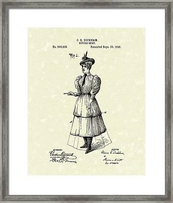 Dockham Bicycle Skirt 1896 Patent Art  Framed Print by Prior Art Design