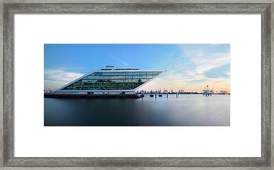 Dockland Evening Framed Print by Marc Huebner