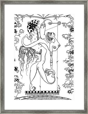 Doctor Vultura's Proportional Sky-fish Daughters  Framed Print by Kelly Jade King