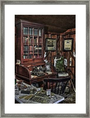 Doctor's Office Framed Print by Susan Candelario