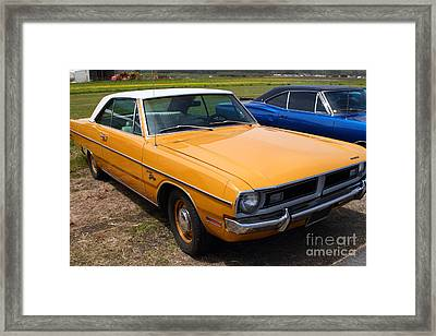 Dodge Dart Swinger . 7d15255 Framed Print by Wingsdomain Art and Photography