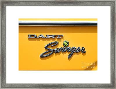Dodge Dart Swinger . 7d15257 Framed Print by Wingsdomain Art and Photography
