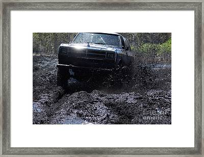 Dodge Ramcharger In Local Mud Framed Print by Lynda Dawson-Youngclaus