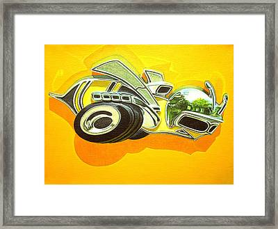 Dodge Super Bee Badge Framed Print by Jeff Taylor