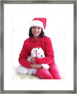 Doggie Christmas Framed Print by Vijay Sharon Govender
