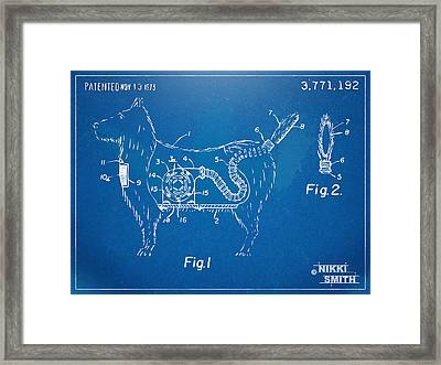 Doggie Vacuum Patent Artwork Framed Print by Nikki Marie Smith