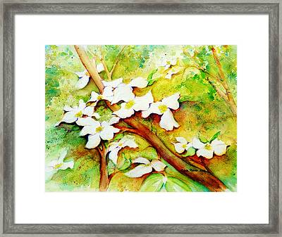 Dogwood Flowers Framed Print by Carla Parris