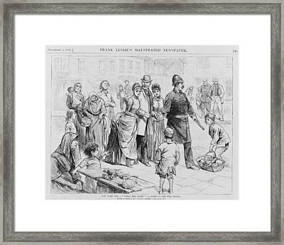 Doing The Slums. A Policeman Leading Framed Print by Everett