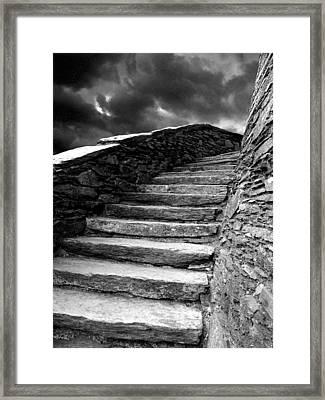Dolbadarn Castle Steps Framed Print by Duncan Rowe