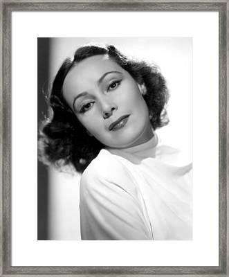 Dolores Del Rio, Fox Film Corp, 1930s Framed Print by Everett