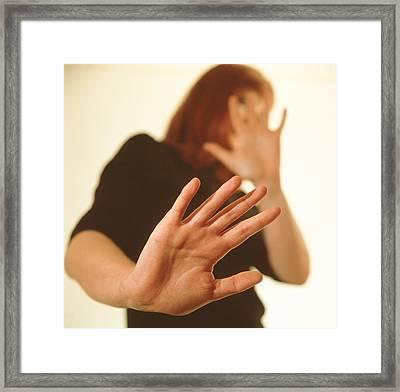 Domestic Violence Framed Print by Cristina Pedrazzini