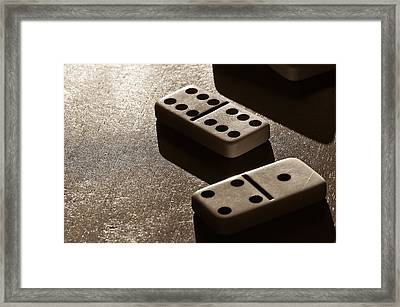 Dominoes Framed Print by Lori Coleman