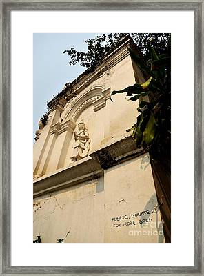Donations Welcome Framed Print by Dean Harte