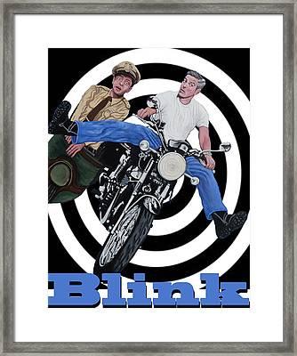 Don't Blink Framed Print by Tom Roderick