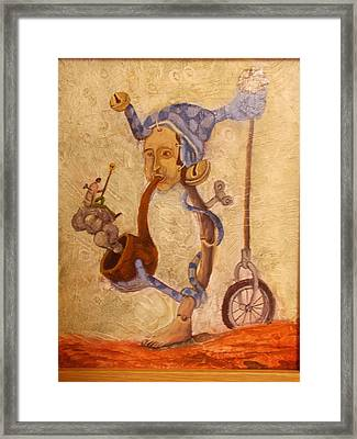 Don't Even Think I Am Crazy Framed Print by Carlos Rodriguez Yorde