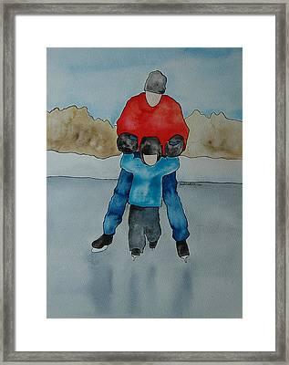Don't Let Go Dad Framed Print by Twyla Wehnes