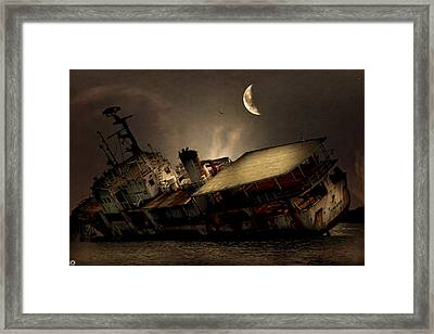 Doomed To Gloom Framed Print by Lourry Legarde