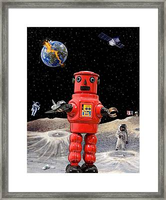 Doomsday Escape Framed Print by L S Keely