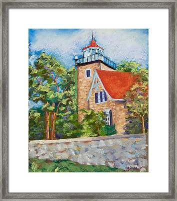Door County Lighthouse Framed Print by Pat Olson