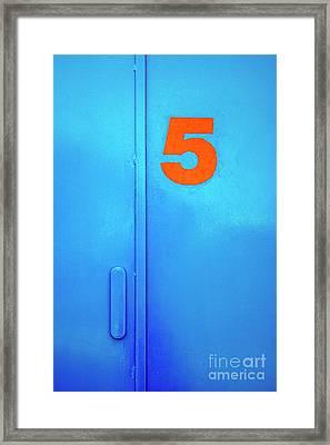 Door Five Framed Print by Carlos Caetano