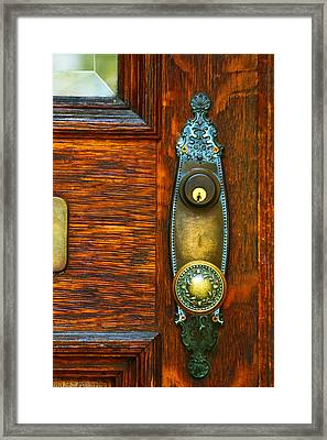 Door Knob Framed Print by Terry Finegan