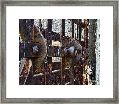 Door To Death Row Framed Print by Paul Ward