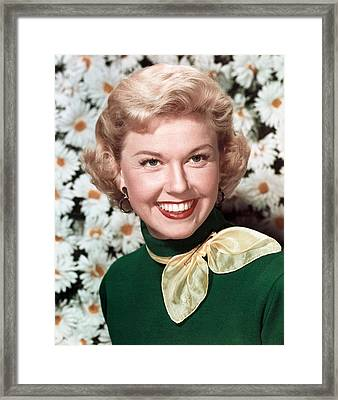Doris Day, Circa 1950s Framed Print by Everett