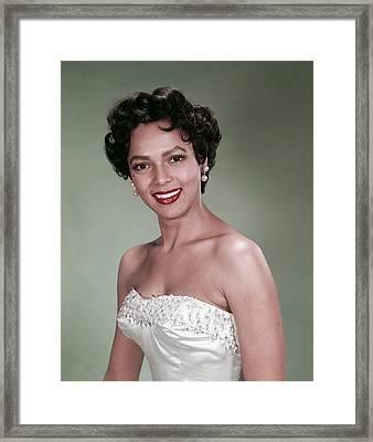 Dorothy Dandridge, 1954 Framed Print by Everett