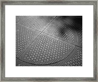 Dots Of Central Park Framed Print by Rob Hans