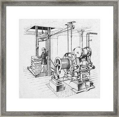 Double Oscillating Steam Engine Framed Print by Science Source
