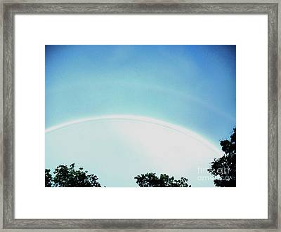 Double Rainbow After The Storm Framed Print by Marsha Heiken