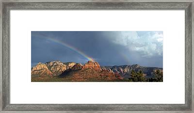 Double Rainbow Over Sedona Framed Print by Dan Turner