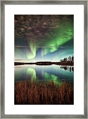 Double Reflections Framed Print by Ronald Lafleur