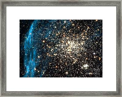 Double Star Cluster Framed Print by Space Telescope Science Institute / NASA