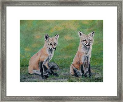 Double Trouble Framed Print by Vicky Path