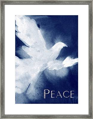 Dove Peace Holiday Card Framed Print by Beverly Brown