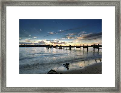Down By The River Framed Print by Edward Kreis