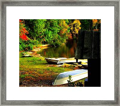 Down By The Riverside Framed Print by Karen Wiles
