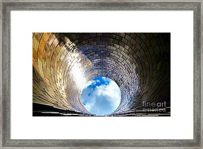 Down The Hole Framed Print by Michelle Milano