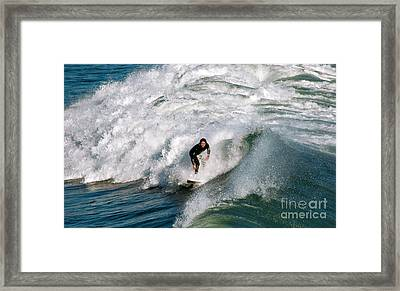 Down The Line Framed Print by David Taylor